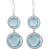 Round Shaped Dangle Earrings
