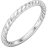 Diamond Rope Design Band or Mounting