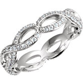Infinity-Style Engagement Ring or Band