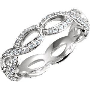 Diamond Infinity-Inspired Engagement Ring, Semi-Mount or Eternity Band