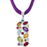 Multi-gemstone Pendant or 18
