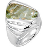 Genuine Green Quartz Ring