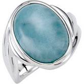 Genuine Larimar Ring