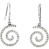3/8 ct tw Diamond Spiral Earrings