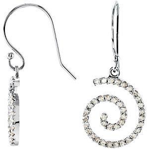 Diamond Spiral Earrings