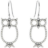 1/2 ct tw Diamond Owl Earrings