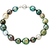 Tahitian Cultured Pearl Bracelet and Necklace Set