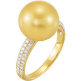 1/3 ct tw Diamond Ring for Pearl