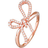 1/4 ct tw Diamond Bow Ring