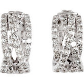 1 3/8 ct tw Diamond Earrings