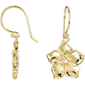 14kt Yellow Forget Me Not Earrings