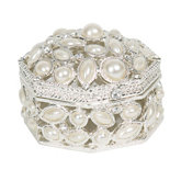 Pearl Hinged Jewelry Box