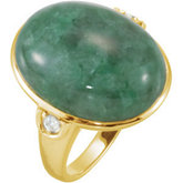 Russian Jadeite & Diamond Ring