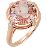 Genuine Morganite & Diamond Ring