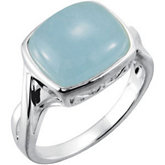 Genuine Milky Aquamarine Ring