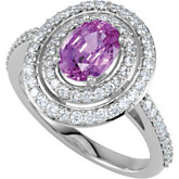Halo-Style Semi-Mount Engagement Ring or Band