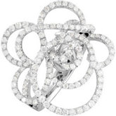 1 3/4 ct tw Diamond Flower Ring