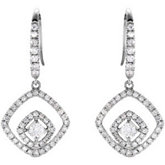 3/4 ct tw Diamond Earrings