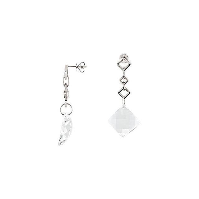 White Quartz Earrings