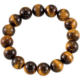 Genuine Tiger Eye Stretch Bracelet