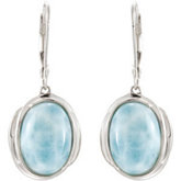 Genuine Larimar Earrings