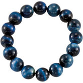 Genuine Blue Tiger Eye Stretch Bracelet
