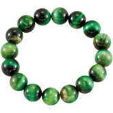 Genuine Green Tiger Eye Stretch Bracelet