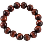 Genuine Red Tiger Eye Stretch Bracelet