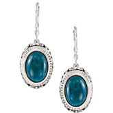 Genuine Opaque Apatite Lever Back Earrings