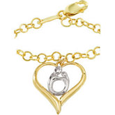 Heart Shaped Mother and Child® Bracelet
