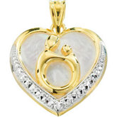 Mother & Child® Pendant with Rhodium Plating