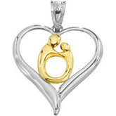 Heart Shaped Mother & Child® Pendant