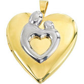 Heart Shaped Mother and Child® Locket