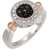 1/4 ct tw Black & White Diamond Ring