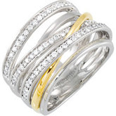 1/2 ct tw Two Tone Diamond Ring