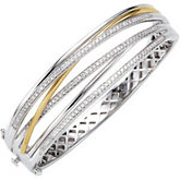 1 ct tw Diamond Bangle Bracelet