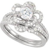 Semi-Mount Engagement Ring or Matching Wedding Band