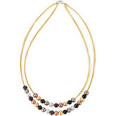 Freshwater Cultured Multi-Color Pearl 18