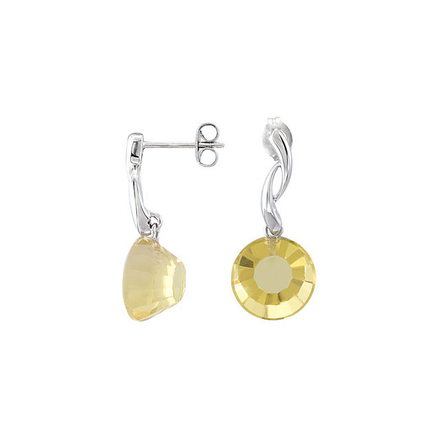 Lime Quartz Earrings