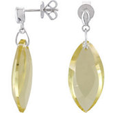 Genuine Lime Quartz Earrings