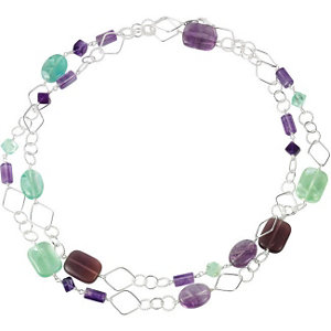 Genuine Fluorite & Rose De France Quartz 42