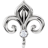 Fleur-de-lis Design Bail Mounting with Vertical Ring