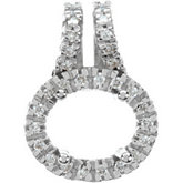 Diamond Semi-mount Pendant