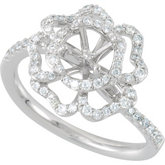 Floral Semi-Mount Engagement Ring