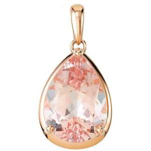Genuine Morganite Pendant