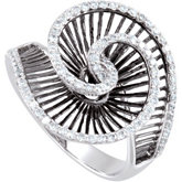 1/2 ct tw Diamond Ring with Black Rhodium Plating