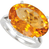 Genuine Citrine Ring