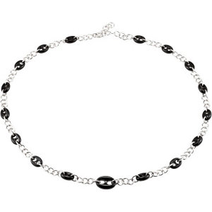 Onyx Marine Link Necklace