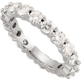 Created Moissanite Eternity Band