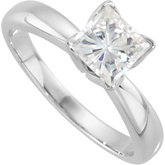 Created Moissanite Princess Tulipset® Solitaire